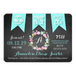 GC Turquoise Girl First Birthday Banner Chalkboard Announcement