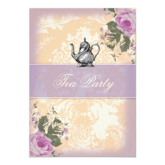 GC Vintage Bridal Shower Tea Party Card