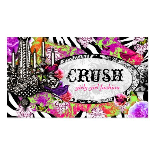 GC Vintage Lime Crush Charm Jungle Zebra Pack Of Standard Business Cards