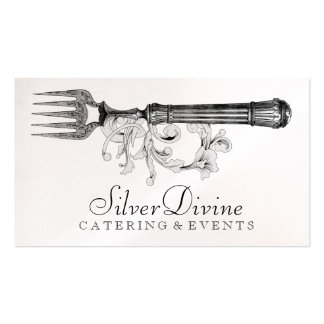 GC Vintage Silver Divine Silverware Pack Of Standard Business Cards