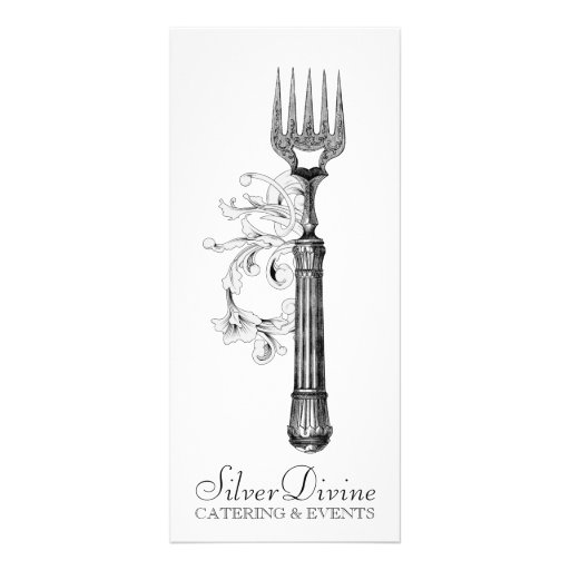 GC Vintage Silver Divine Silverware Personalized Rack Card