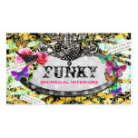 GC | Whimsical Vintage Charm Bee Damask Pack Of Standard Business Cards
