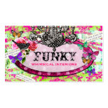 GC | Whimsical Vintage Charm Hot Lime Pack Of Standard Business Cards