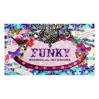 GC | Whimsical Vintage Charm Purple Blue Pack Of Standard Business Cards