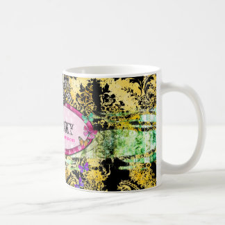 GC | Whimsical Vintage Pink Bee Mug