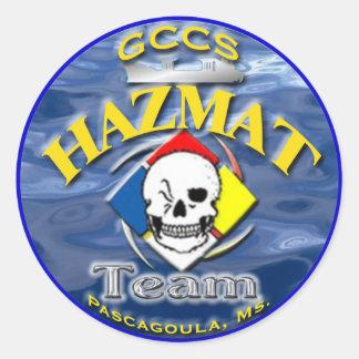 GCCS-hazmat Classic Round Sticker