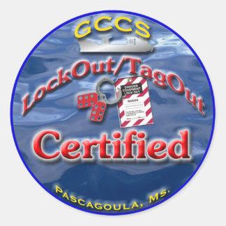 GCCS-LO/TO CLASSIC ROUND STICKER