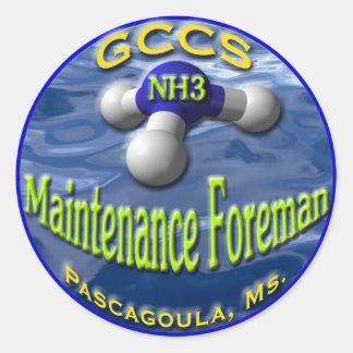 GCCS-NH3FOREMAN2 CLASSIC ROUND STICKER