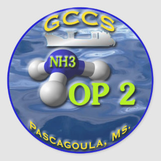 GCCS-op2 Classic Round Sticker