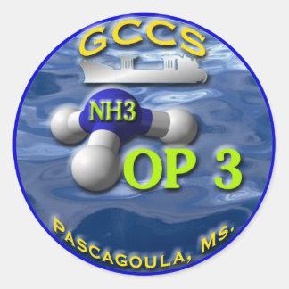 GCCS op3 Classic Round Sticker