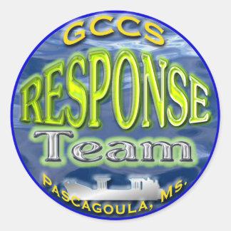 GCCS Response Team Classic Round Sticker