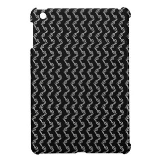 Gclef musical  symbol chain with black background iPad mini cover