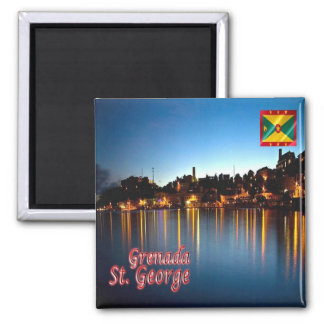 GD - Grenada - St. George By Night Square Magnet