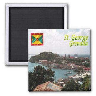 GD - Grenada - St. George Square Magnet