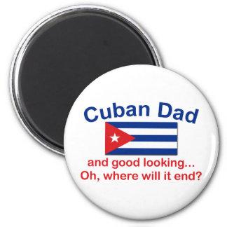 Gd Lkg Cuban Dad 6 Cm Round Magnet