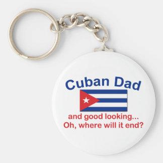 Gd Lkg Cuban Dad Basic Round Button Key Ring