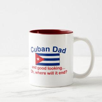 Gd Lkg Cuban Dad Two-Tone Mug