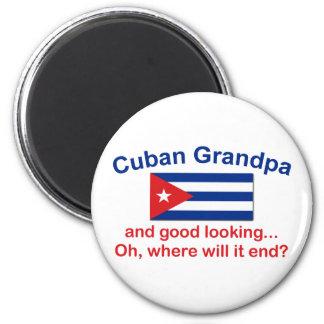 Gd Lkg Cuban Grandpa 6 Cm Round Magnet