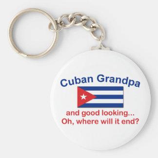 Gd Lkg Cuban Grandpa Basic Round Button Key Ring