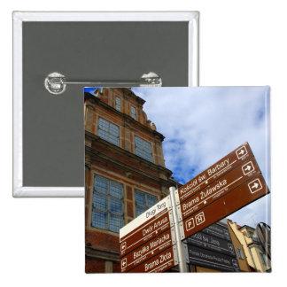 Gdansk, Poland 15 Cm Square Badge
