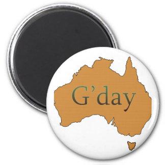 G'day 6 Cm Round Magnet