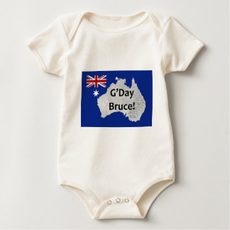 G'Day Bruce Australian Logo Infant's Creeper
