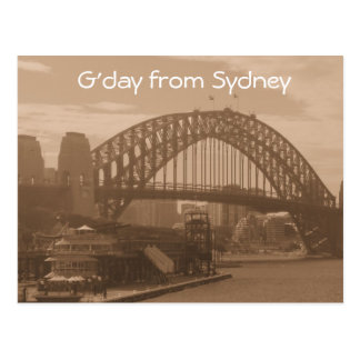 G'day from Sydney postcard