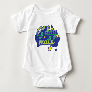 G'DAY Mate Australian Greeting hello Baby Bodysuit