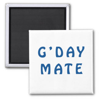 Gday Mate Blue Refrigerator Magnets