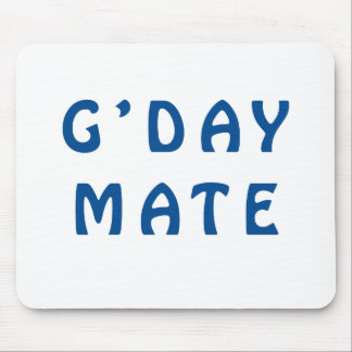 Gday Mate Blue Mouse Pad