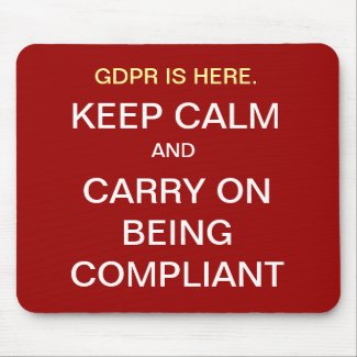 GDPR Keep Calm Compliance Quote Funny Slogan