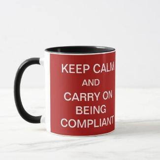 GDPR Mug Keep Calm Famous Funny Compliance Slogan