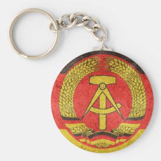 GDR key supporter Basic Round Button Key Ring