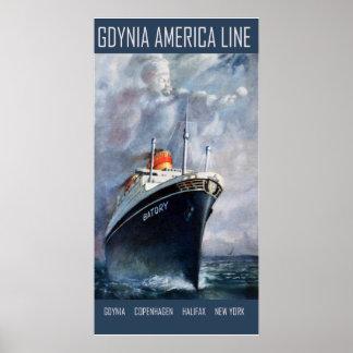 Gdynia America Line Print
