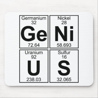 Ge-Ni-U-S (genius) - Full Mouse Mat