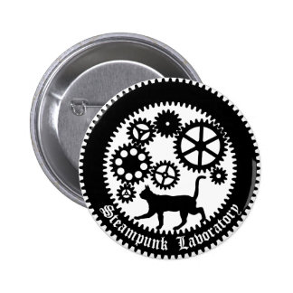 Gear Cat 6 Cm Round Badge