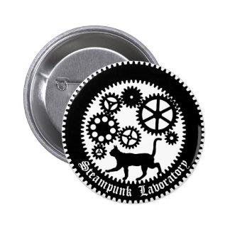 Gear Cat 6 Cm Round Badge