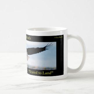 Gear Down. Flaps Down. Cleared to Land Bald Eagle Basic White Mug