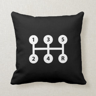 Gear Shift Pictogram Throw Pillow
