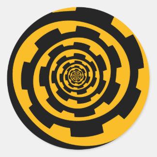 Gear Spiral Classic Round Sticker