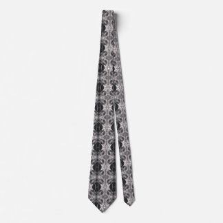 Gear Steam Punk Black and White Tie