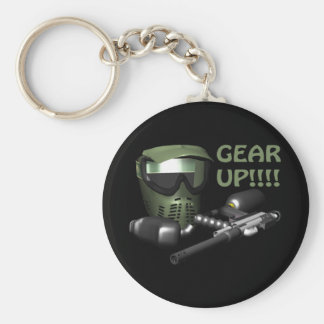 Gear Up Basic Round Button Key Ring