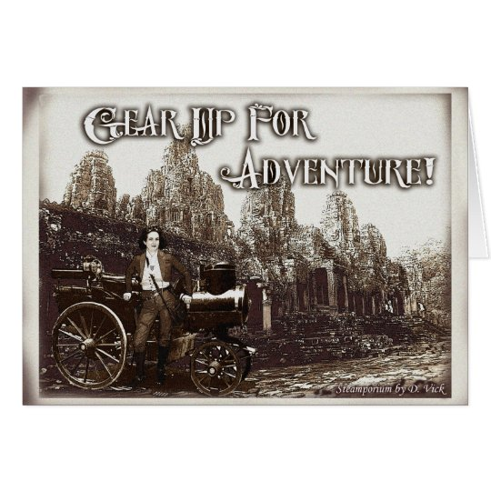 Gear Up For Adventure Greeting Card