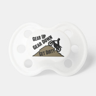 Gear Up Gear Down Dirt Bike Rider Baby Pacifiers