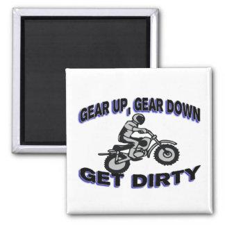 Gear Up Get Dirty Motocross Fridge Magnets