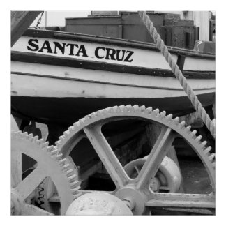Geared uo for Santa Cruz Poster