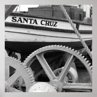 Geared uo for Santa Cruz Poster