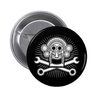 Gearhead -bw 6 cm round badge