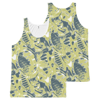 Gears All-Over Print Tank Top