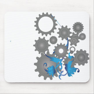 Gears and flowers mousepads